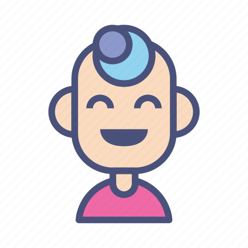 avatar, character, human, laugh, male, people, profile icon