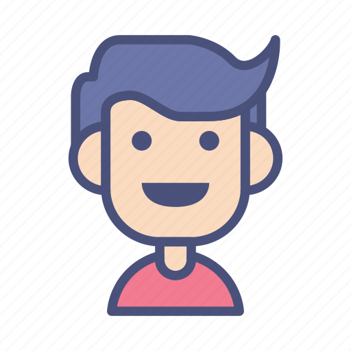 avatar, character, face, male, people, profile, smile icon