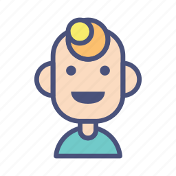 avatar, character, emoticon, male, people, profile, smile icon