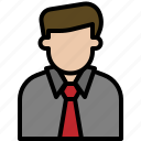 avatar, business, cartoon, man, office, people icon