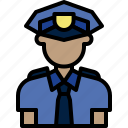 avatar, cartoon, cop, man, officer, people, police icon