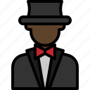 avatar, cartoon, magician, man, people, suit icon