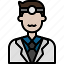 avatar, cartoon, doctor, hospital, man, people icon