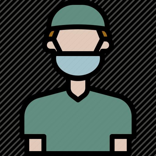 Avatar, Cartoon, Doctor, Hospital, Man, People, Surgeon Icon