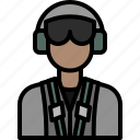 avatar, cartoon, fly, man, people, pilot, plane icon