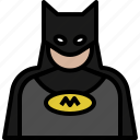 avatar, bat, batman, cartoon, man, people icon