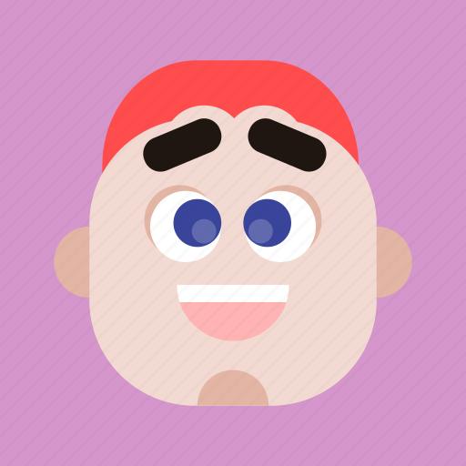 avatar, faces, head, man, person, profile, user icon