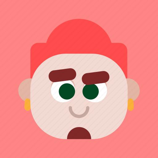 avatar, expression, face, faces, feeling, head, redhead icon