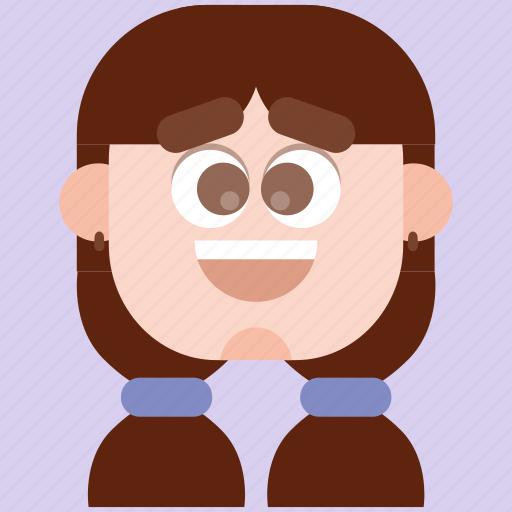avatar, faces, head, human, person, woman icon