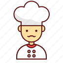 character, cheft, cook, kitchen, man, person, user icon