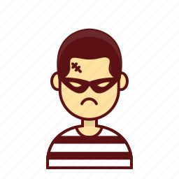 character, crime, jail, man, person, steal, user icon