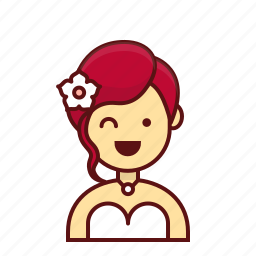 bride, character, church, girl, person, user, wedding icon