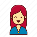 avatar, female, girl, job, person, sale, user icon
