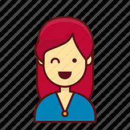 avatar, female, girl, job, person, sale, user icon