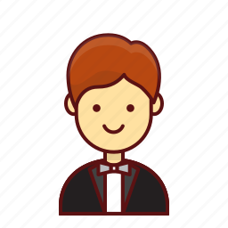 businessman, character, lunch, manager, person, restaurant, user icon