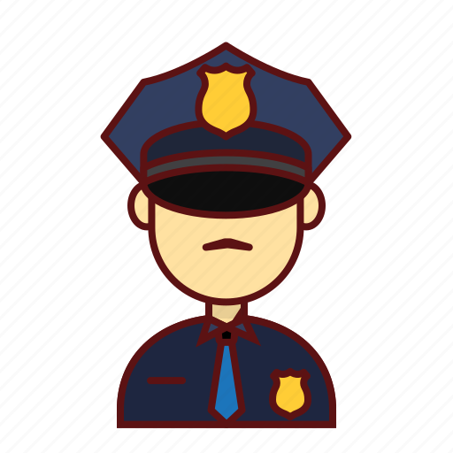 character, man, officers, person, police, user icon