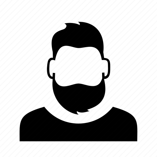 avatar, beard, character, hipster, person, profile, user icon