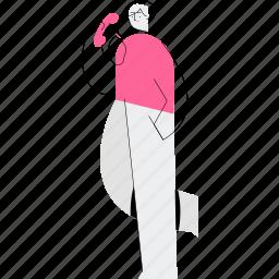 call, woman, telephone, communication
