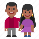 black, couple, laughing, man, pair, smiling, woman icon
