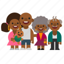 child, dad, family, grandma, grandpa, mom, black icon