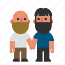 couple, gay, hands, holding, men, pair, two icon