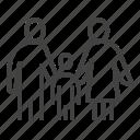 adoption, child, family, parents, pediatrics, people icon