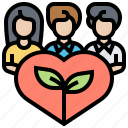 benevolence, generosity, kindness, sympathy, volunteer