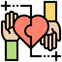 acceptance, contribute, give, help, offering icon