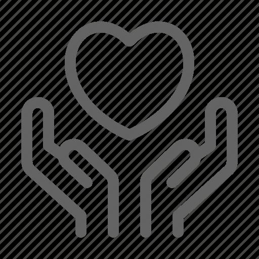 care, compassion, empathy, love icon