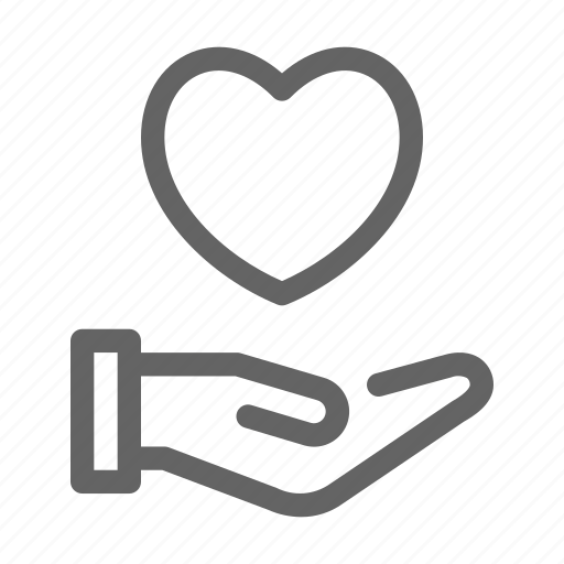 charity, give, kindness, love icon