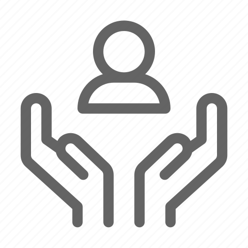 Care, charity, hand, support icon - Download on Iconfinder