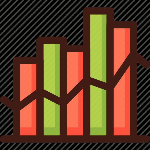 chart, curve, diagram, graph, infographic, statistics icon