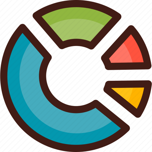 chart, circle, curve, diagram, graph, infographic, statistics icon