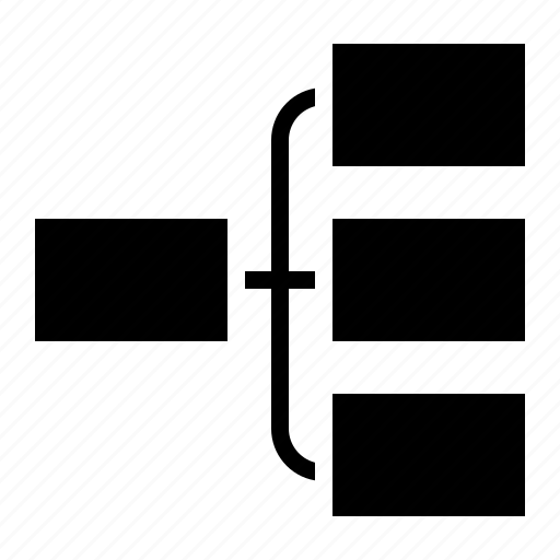 business, diagram, organization, structure icon