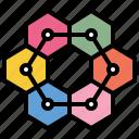 business, data, diagram, organization icon