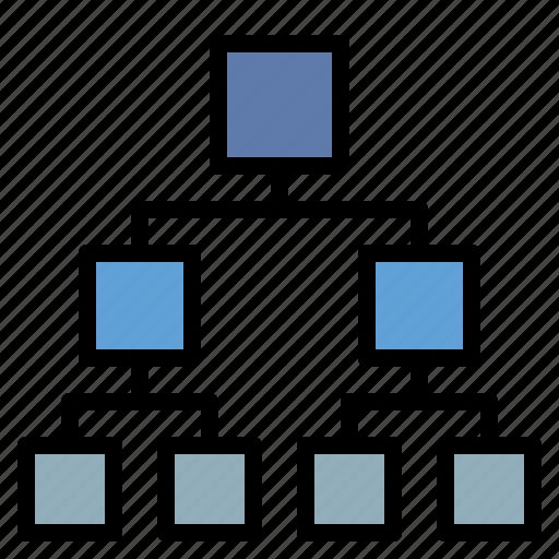 business, diagram, hierarchical, organization icon