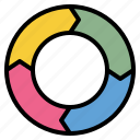 chart, cycle, information, process icon