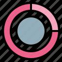 chart, estimate, percentage, pie icon