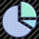 analytics, chart, graph, pie icon