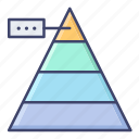 chart, graph, level, pyramid icon
