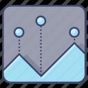 area, chart, report, trend icon