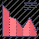 chart, decrease, diagram, loss icon