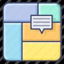 data, diagram, infographic, treemap icon