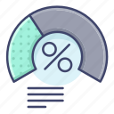 chart, graph, meter, proportion icon