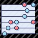 chart, dot, plot, statistic icon