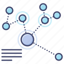 diagram, graph, infographic, network icon