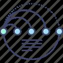 arc, chart, diagram, infographic icon