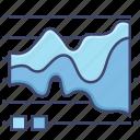 chart, diagram, graph, stream icon