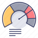 analytics, diagram, gauge, graph icon