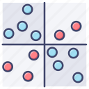 analysis, chart, diagram, quadrant icon
